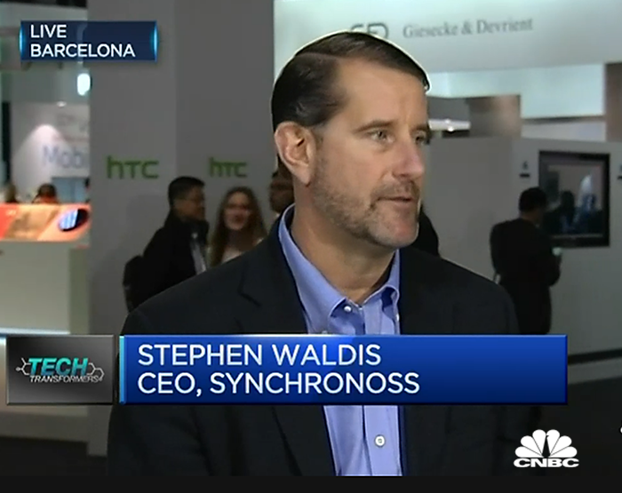 CEO Stephen Waldis Talks Cloud Data Security on CNBC, Live at Mobile World Congress